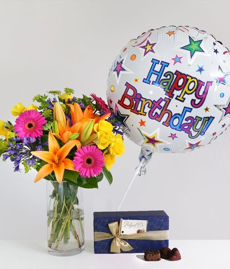 Happy Birthday Gift Set For Delivery To United Kingdom From Arenaflowers