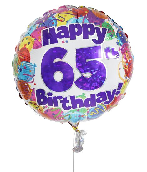 65th Birthday Balloon For Delivery To United Kingdom From Arenaflowers
