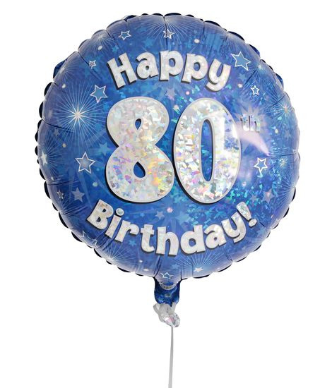80th Birthday Balloon For Delivery To United Kingdom From Arenaflowers