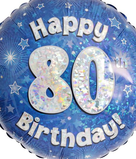 80th Birthday Balloon For Delivery To United Kingdom From