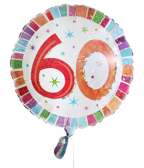 60th Birthday Balloon For Delivery To United Kingdom From Arenaflowers