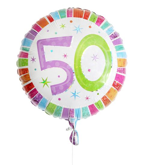 50th Birthday Balloon For Delivery To United Kingdom From Arenaflowers