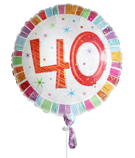 40th Birthday Balloon For Delivery To United Kingdom From Arenaflowers