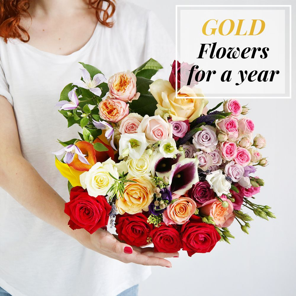Flowers For A Year | Gold Collection - flowers