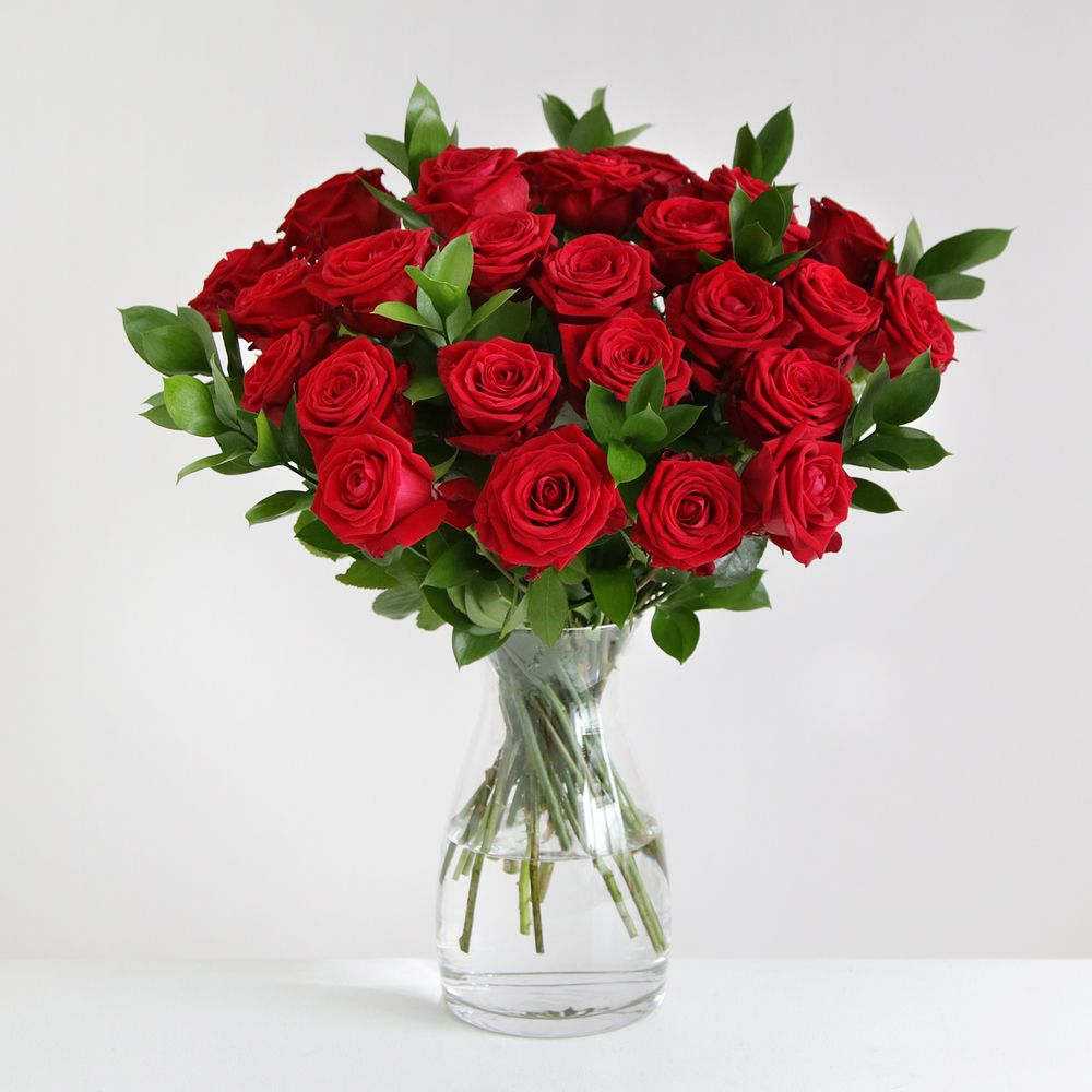 24 Luxury Red Roses - flowers