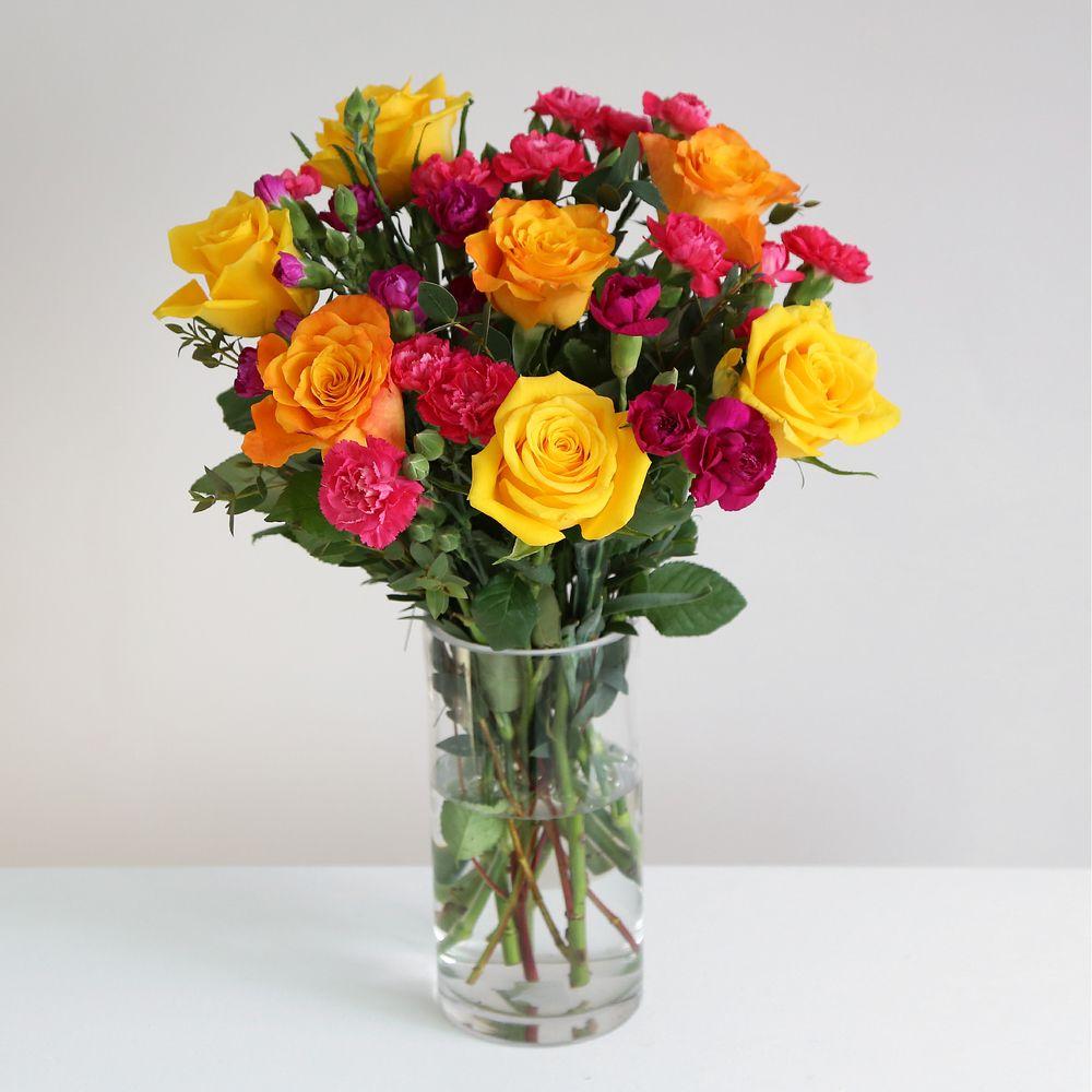 Fairtrade Rainbow Bouquet  - flowers