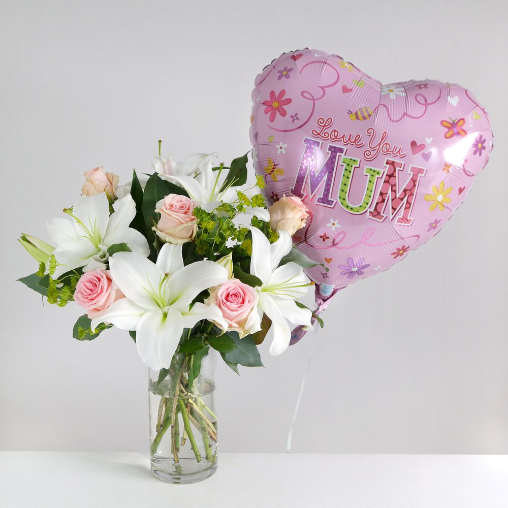 Mother's Day Balloon Gift Set - flowers