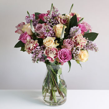 Luxury Rose & Lilac Bouquet - flowers