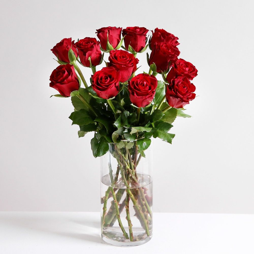 Dozen Sweetheart Red Roses - flowers