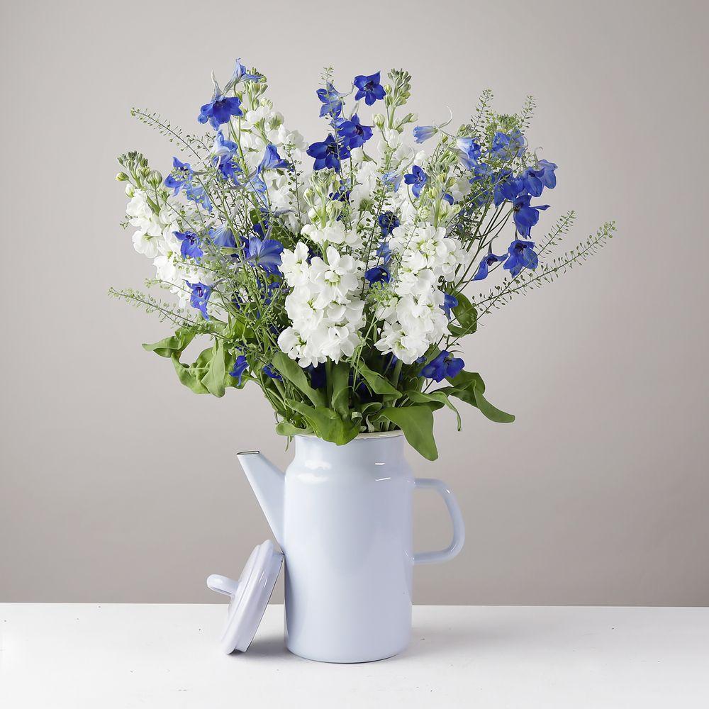 Delphinium and Stocks Jug - flowers