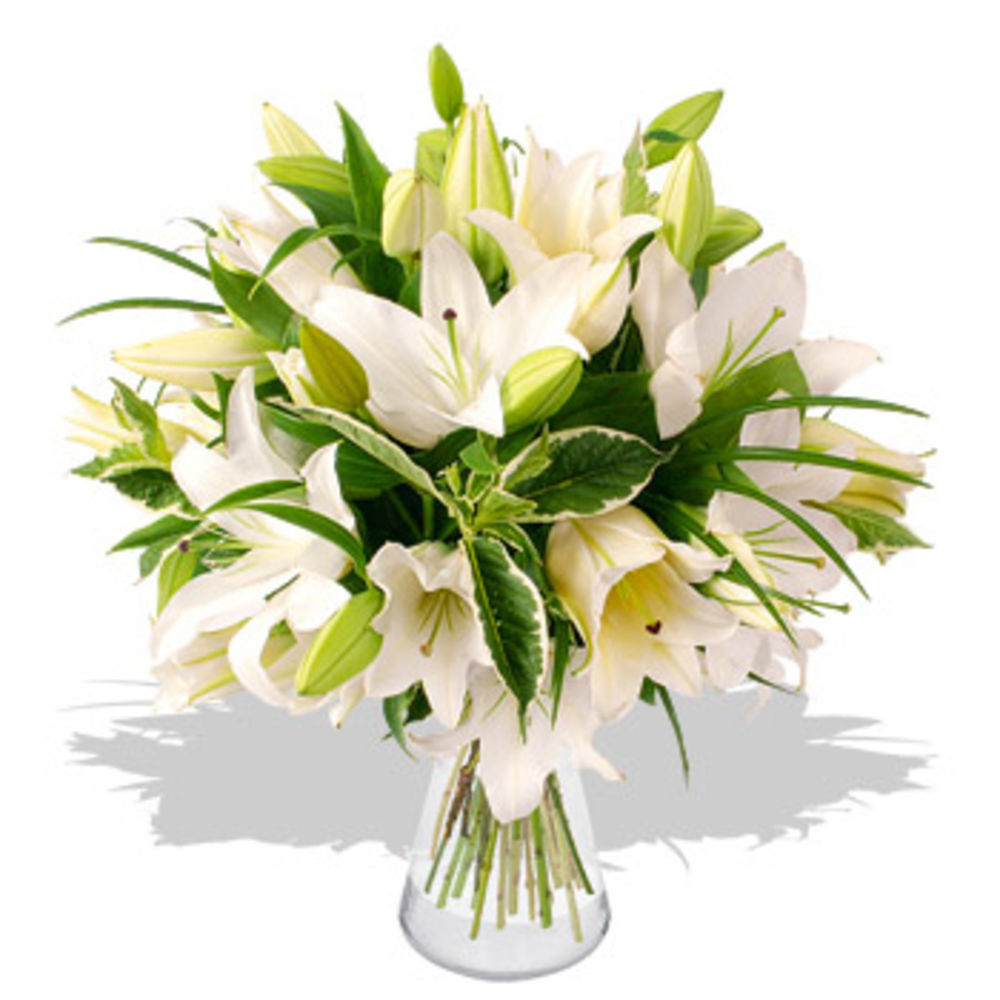 White Lily Bouquet - flowers