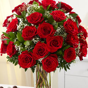 Two Dozen Long Stemed Red Roses