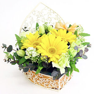 Arrangement Angel Heart Yellow