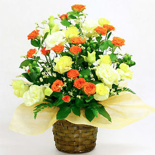Spray Rose Arrrangement Orange