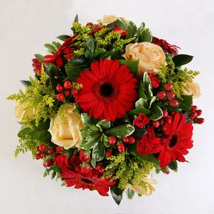 Red & Yellow Funeral Posy