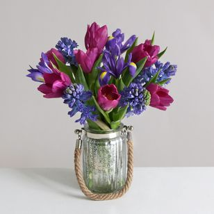 Indigo Bouquet | Vase Included