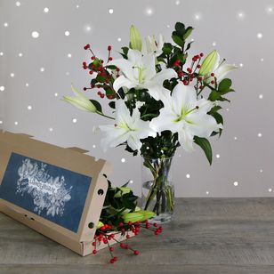 Letterbox Winter White Lilies | Free Chocolate