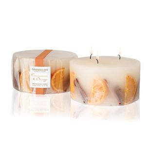 Cinnamon and Orange 3 Wick Candle