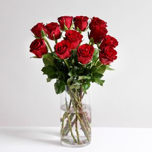 A Dozen Classic Red Roses