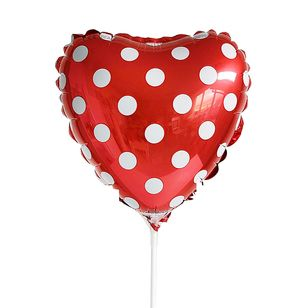 Polka Dot Mini Red Heart Balloon AF