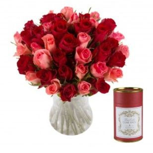 Candle and rose gift set