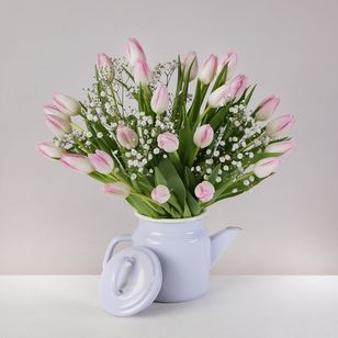Mother's Tulip Coffeepot
