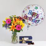 Happy Birthday Gift Set - flowers