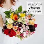 Flowers For A Year | Platinum Collection - flowers