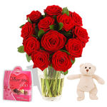 Hugs Romantic Gift Set - flowers
