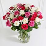 30 Mixed Roses - flowers