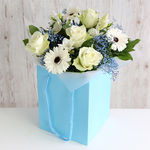 Baby Boy Gift Bag - flowers