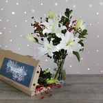 Letterbox Winter White Lilies | Free Chocolate - flowers