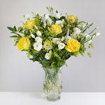 Golden Rose & Lisianthus - flowers