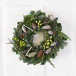 Traditional Christmas Wreath - flowers