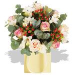 Pastel Rose Gift Bag - flowers