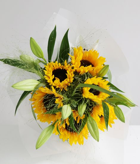 Sunflowers and Lilies