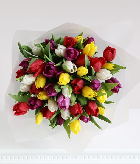 30 Mixed Tulips
