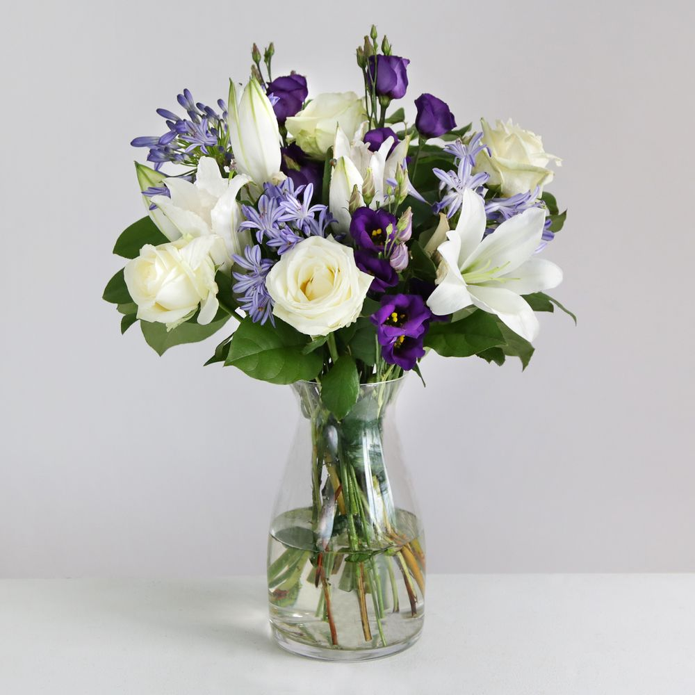 Image of Avalanche Roses & Lisianthus - flowers