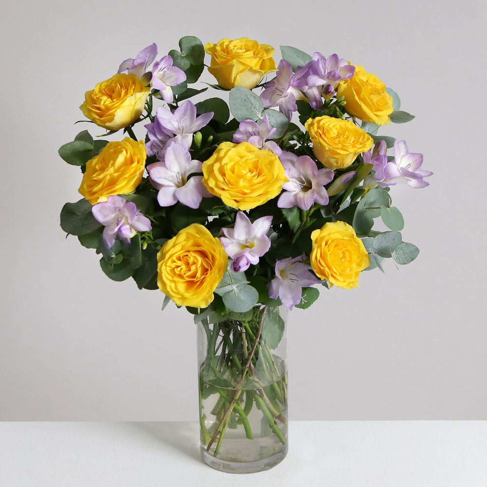 Image of Rose & Freesia Bouquet - flowers