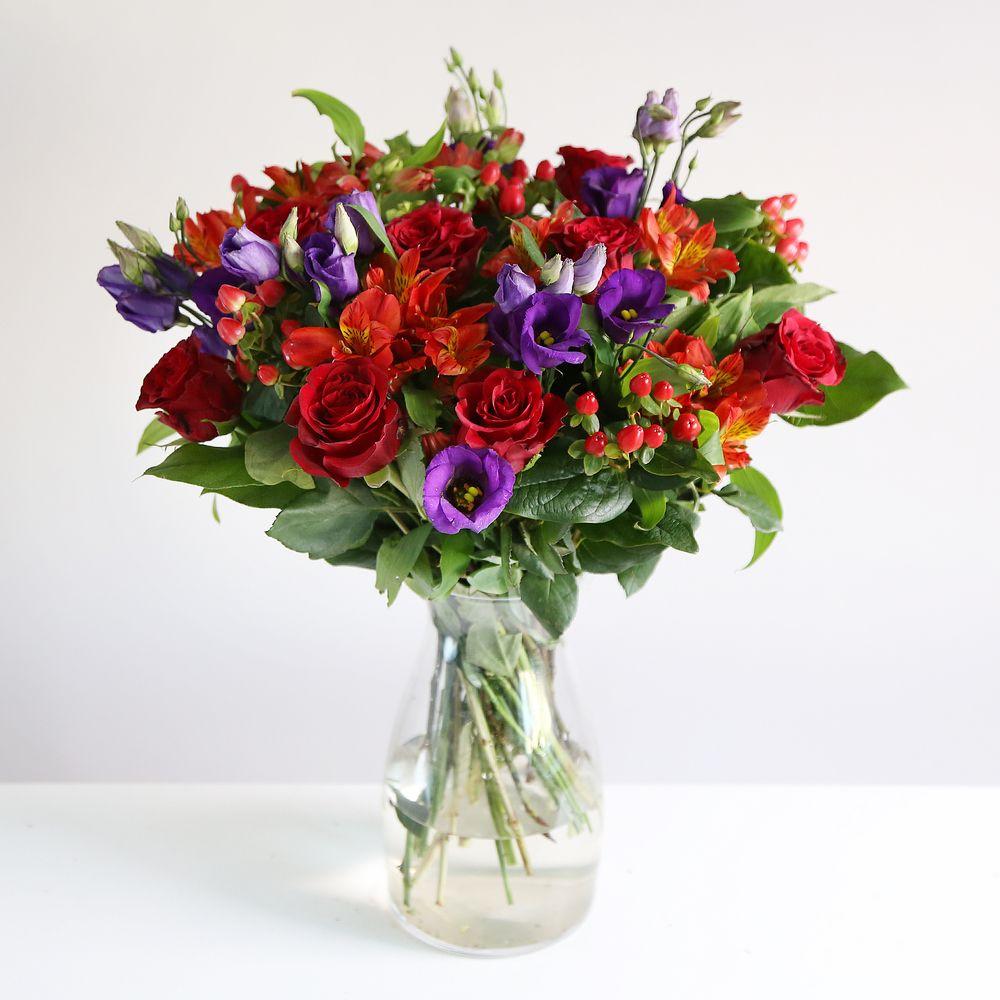 Image of Valentine's Rose & Lisianthus - flowers