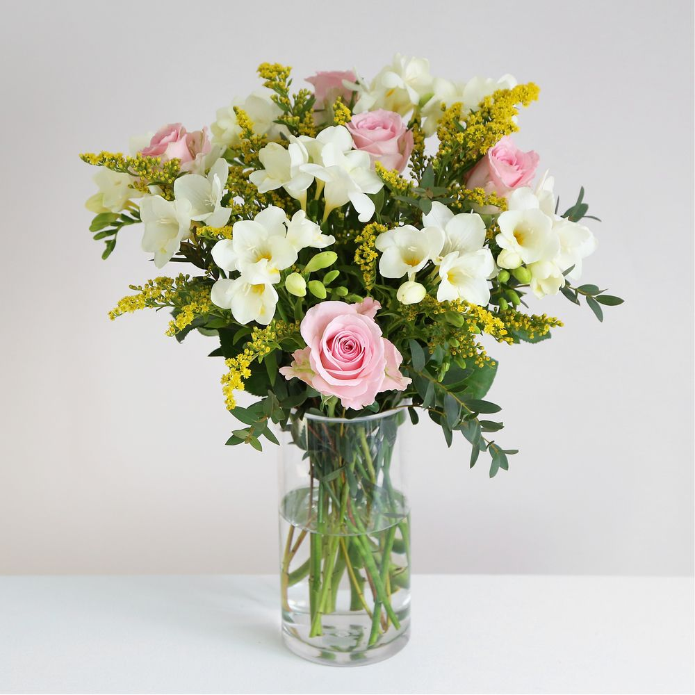 Image of Rose and Freesia - flowers