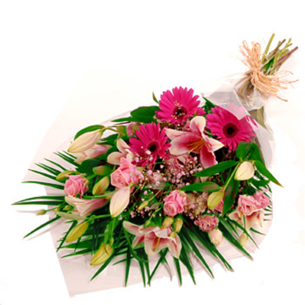 Image of Pink Gift Wrap - flowers