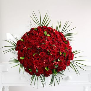 One Hundred Red Roses Bouquet